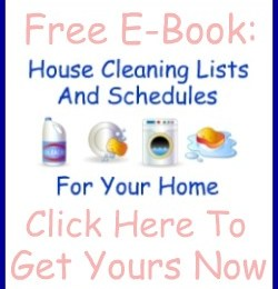 FREE eBook: House Cleaning Lists and Schedules (subscriber freebie)