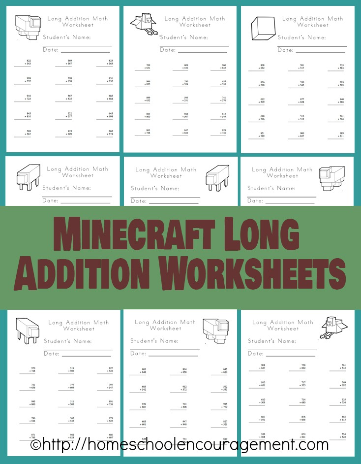 Free Minecraft Homeschool Resources Printables Crafts Snacks