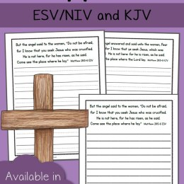 FREE Easter Verse Copywork Pages