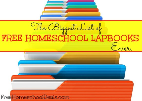 The BIGGEST List Of FREE HOMESCHOOL LAPBOOKS