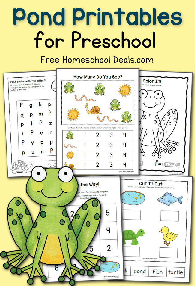 Pond Printables for Preschool April 2015 FHD