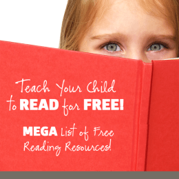 Teach Your Child To Read For Free! Mega Resource List of Free Reading Resources!