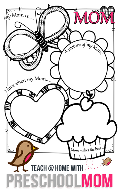 Free preschoolers mother 39 s day card printable free for Mothers day cards from preschoolers