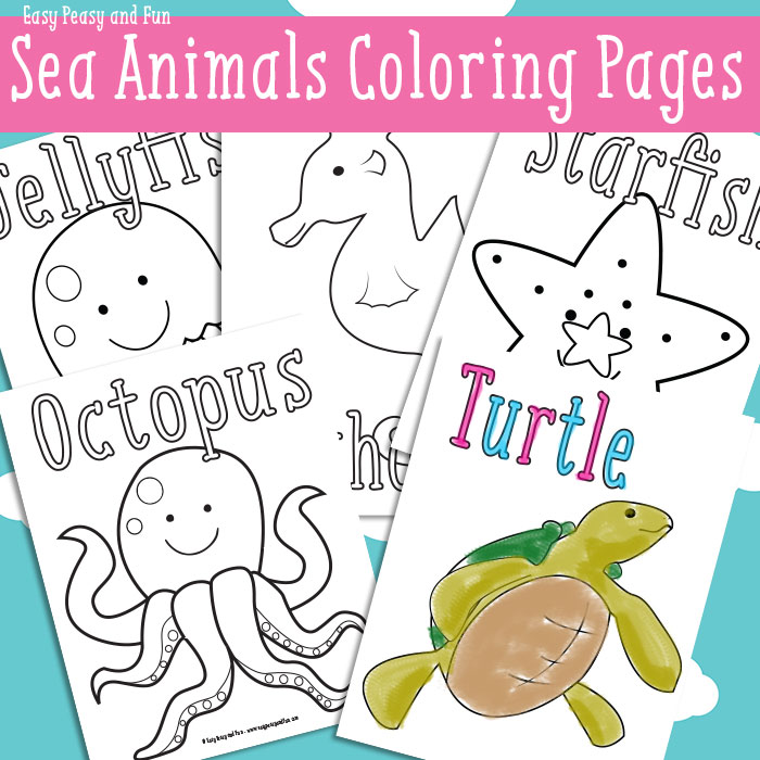 FREE Ocean Animal Coloring Pack | Free Homeschool Deals | free printable colouring pages of sea animals