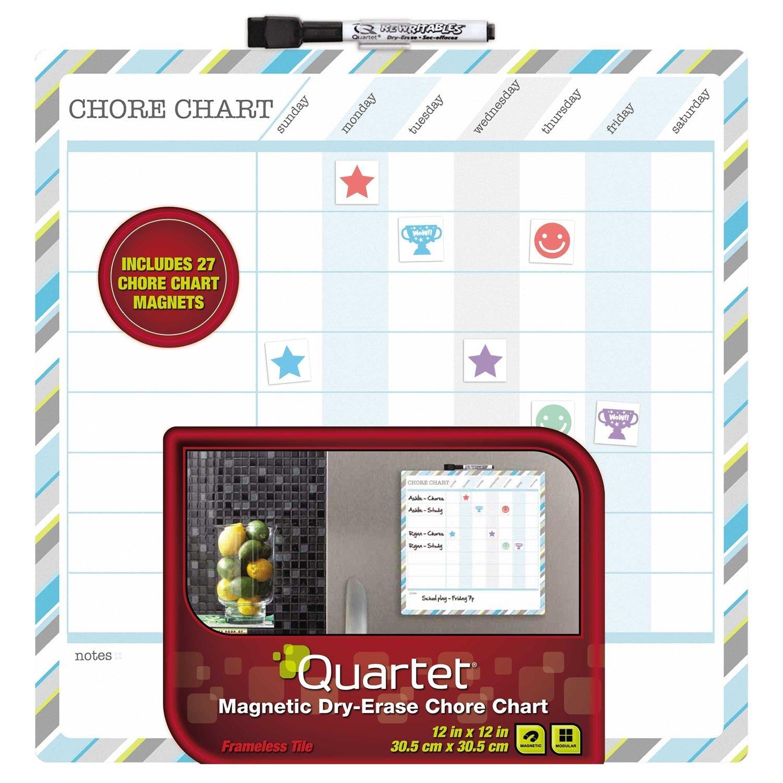 Quartet Magnetic Dry Erase Chore Chart Only 9 69