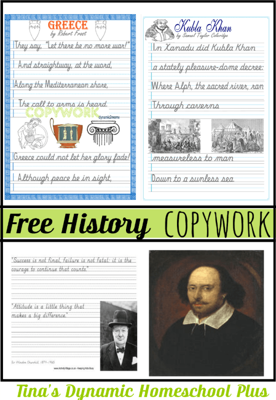 FREE History Copywork