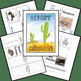 FREE Desert Animals Lapbook and figures