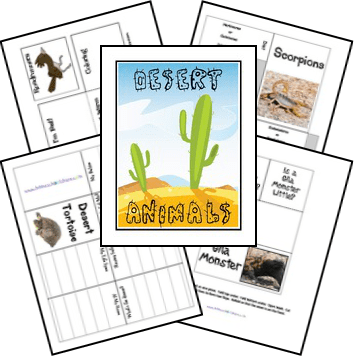 FREE Desert Animals Lapbook and Figures