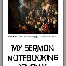 FREE My Sermon Notebooking Journal