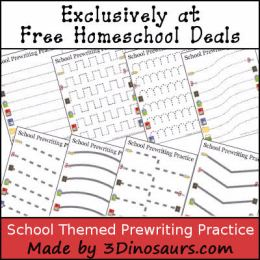 FREE SCHOOL THEMED PREWRITING PACK (Instant Download)