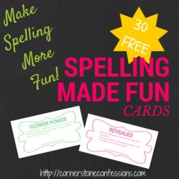 FREE Spelling Fun Cards