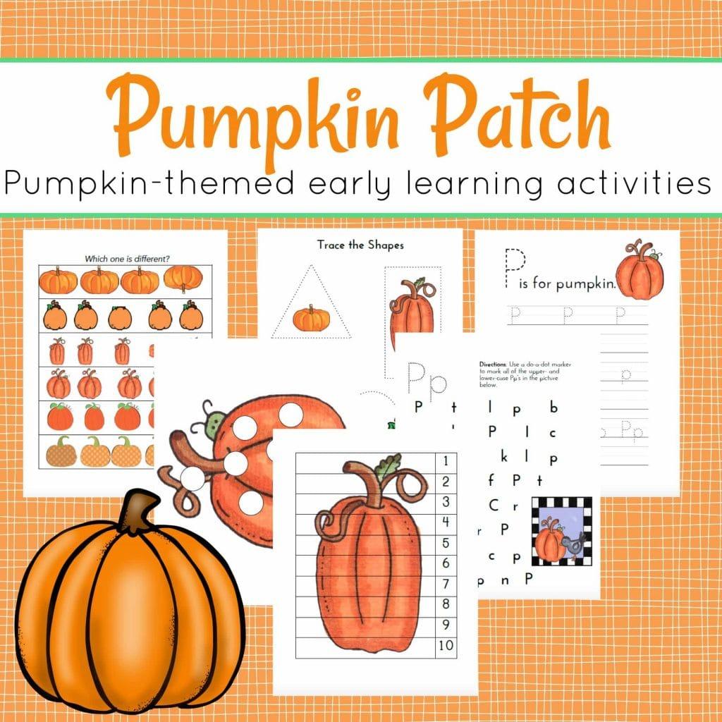Worksheet For Preschool Pumpkin Patch