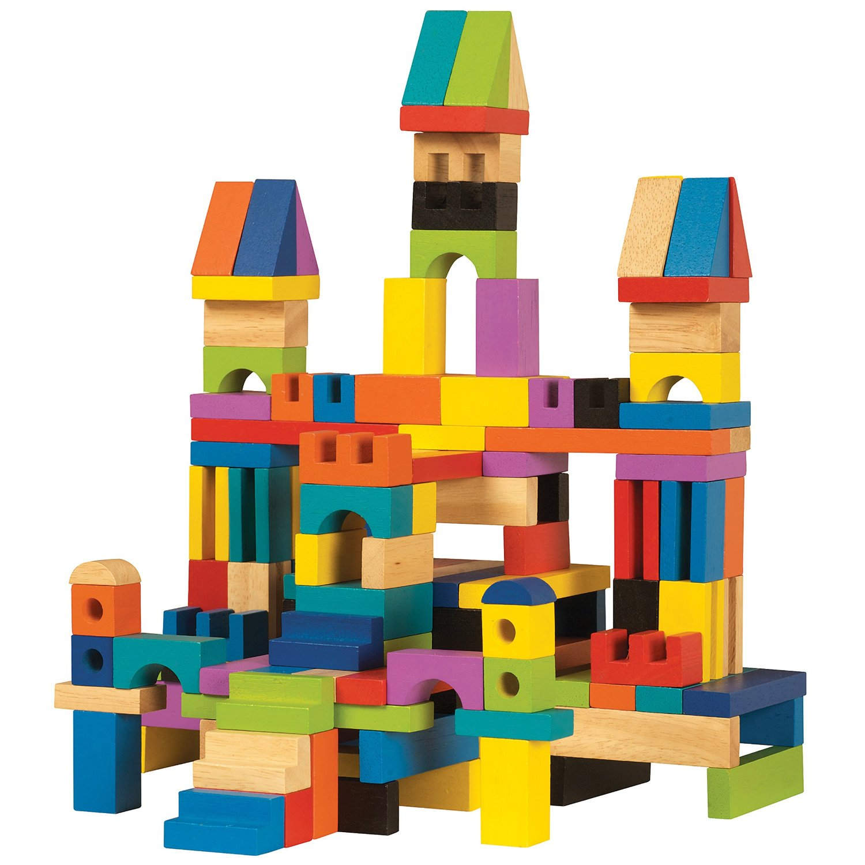 Archiquest Master Builder Wooden Block Set Only 24 58 136 Pieces