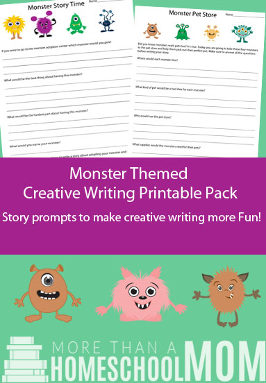 FREE Monster Themed Writing pack