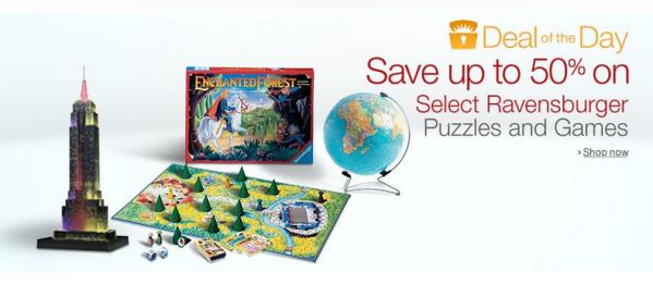50% Off Ravensburger Puzzles & Games!