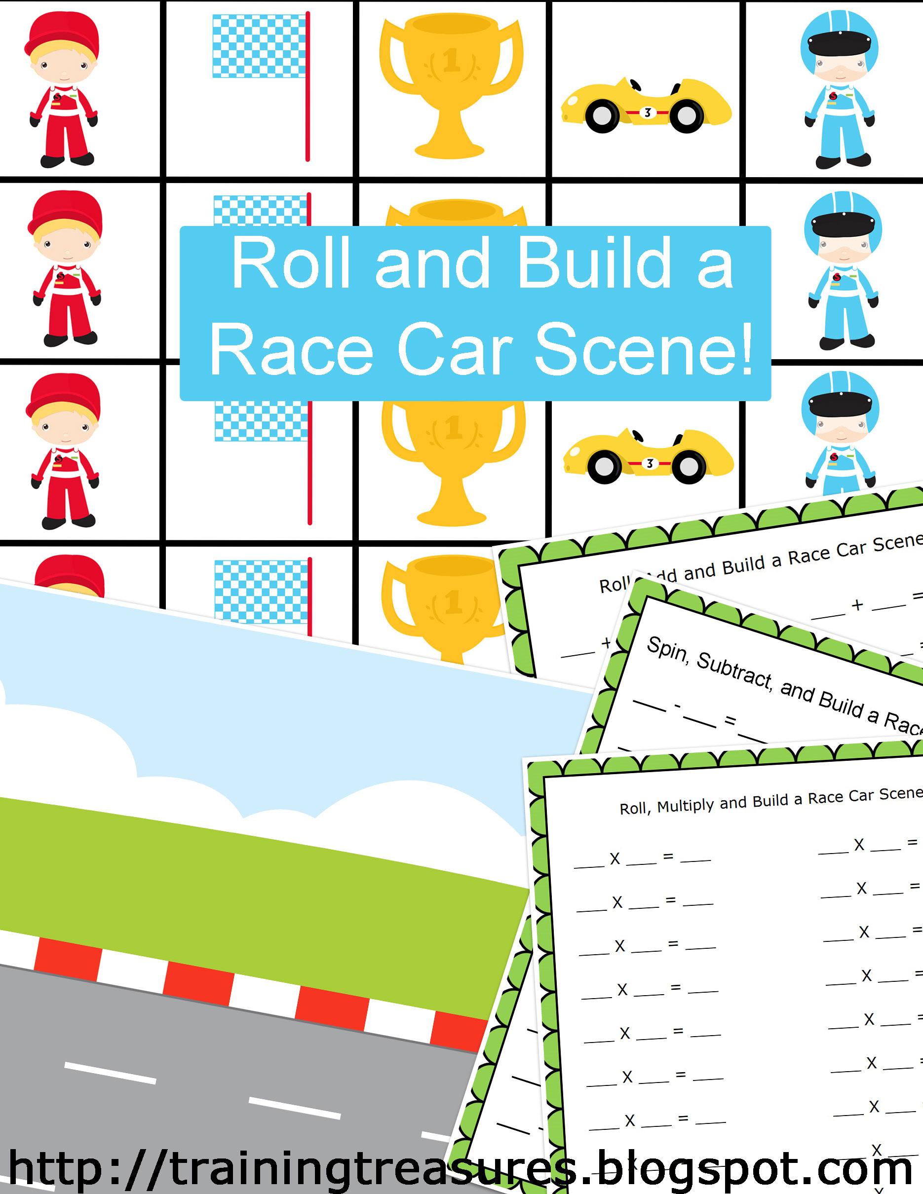 Multiplication Car Worksheet