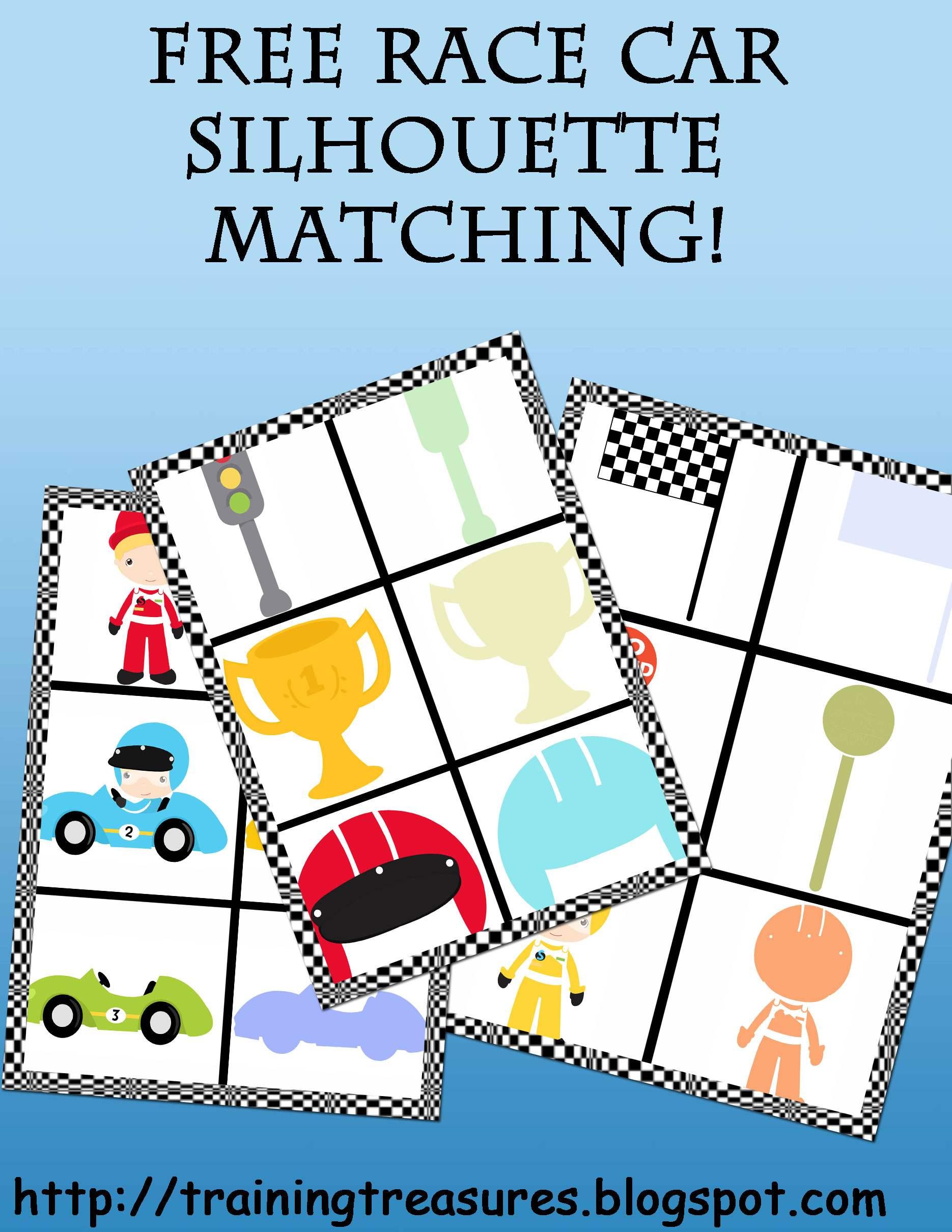 Free Race Car Matching Game