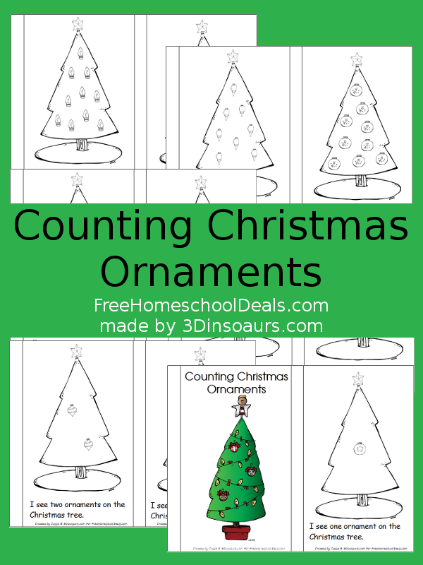 FREE Counting Ornaments Printables