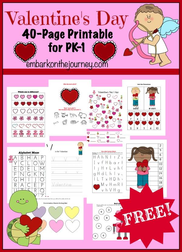FREE PreK Valentines Pack