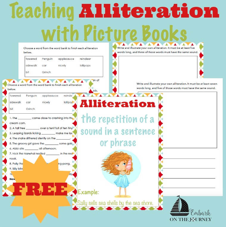 Free Alliteration Printables Pack