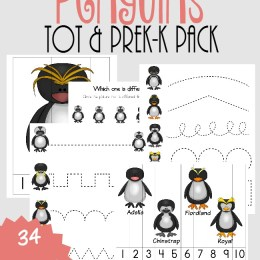 FREE Penguins PreK and Tot pack