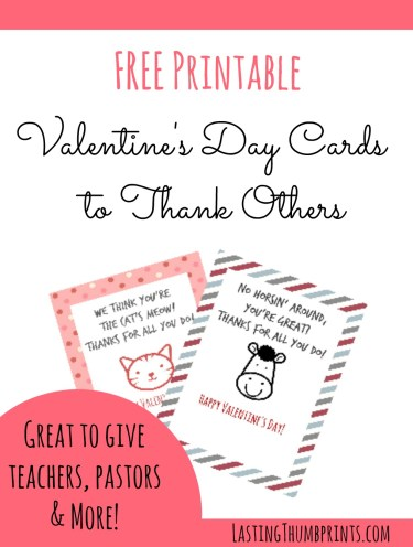 FREE Valentine's Cards for Your Community Workers