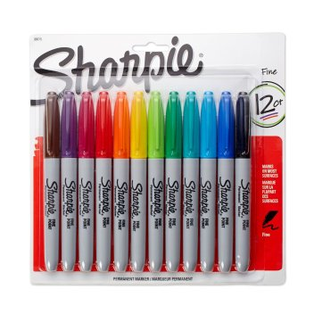 Sharpie 12 Pack Fine Point Permanent Markers Only $6!