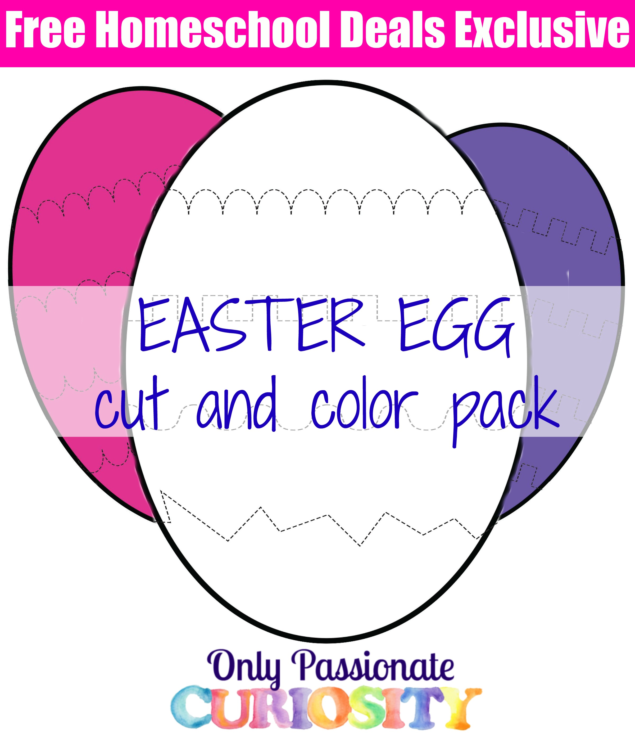 Free Easter Egg Cutting Pack Instant Download