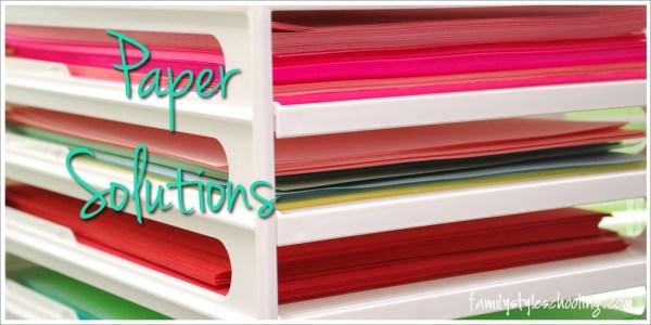 Paper Solutions Homeschool Organization