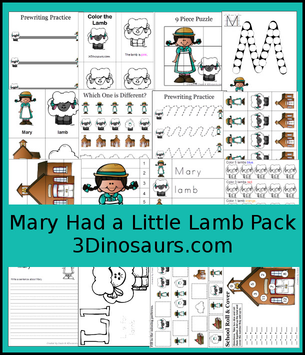 FREE Mary Had a Little Lamb Pack