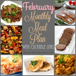 FREE February 2016 Menu Plan {with clickable links}