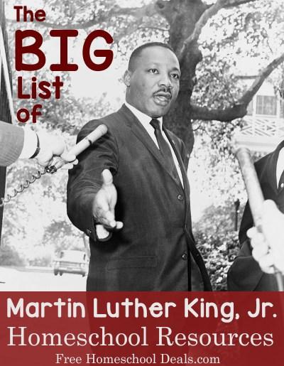 Big List of MLK Homeschool Resources