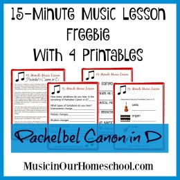 FREE 15 Minute Music Lesson with Printables