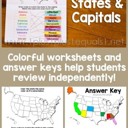 FREE States and Capitals Printables Pack