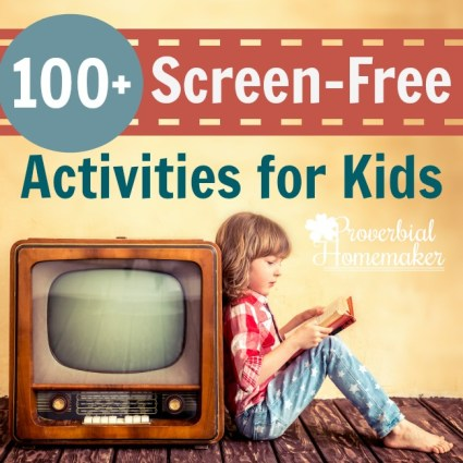 Free Screen-Free Activities List