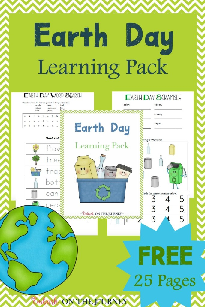 FREE Earth Day Printables Pack