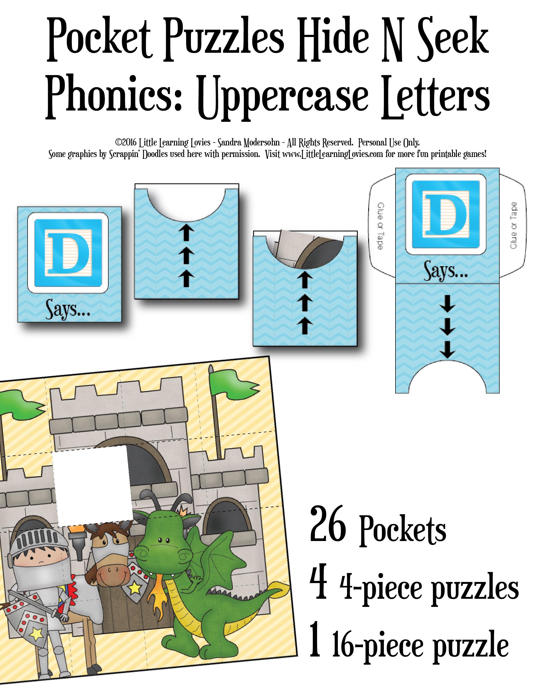 Free Phonics Hide And Seek Puzzles