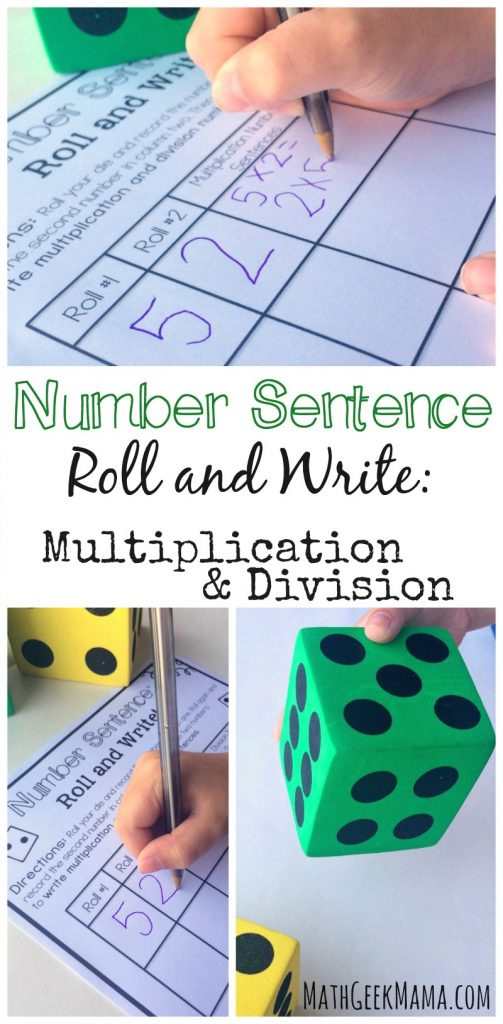 Free Multiplication And Division Math Activity And