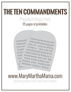 FREE Ten Commandments pack