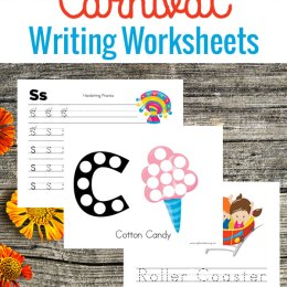 FREE Carnival Writing Worksheets