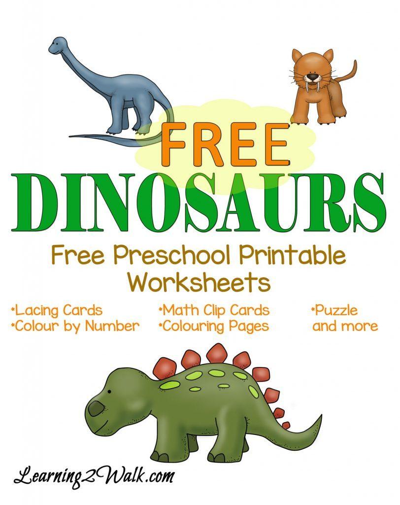 FREE Dinosaurs Preschool Pack | Free Homeschool Deals ©