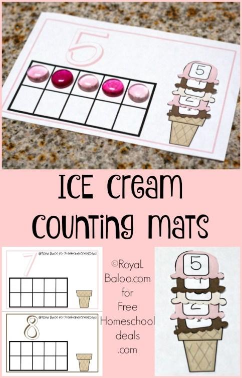 ice cream count mats