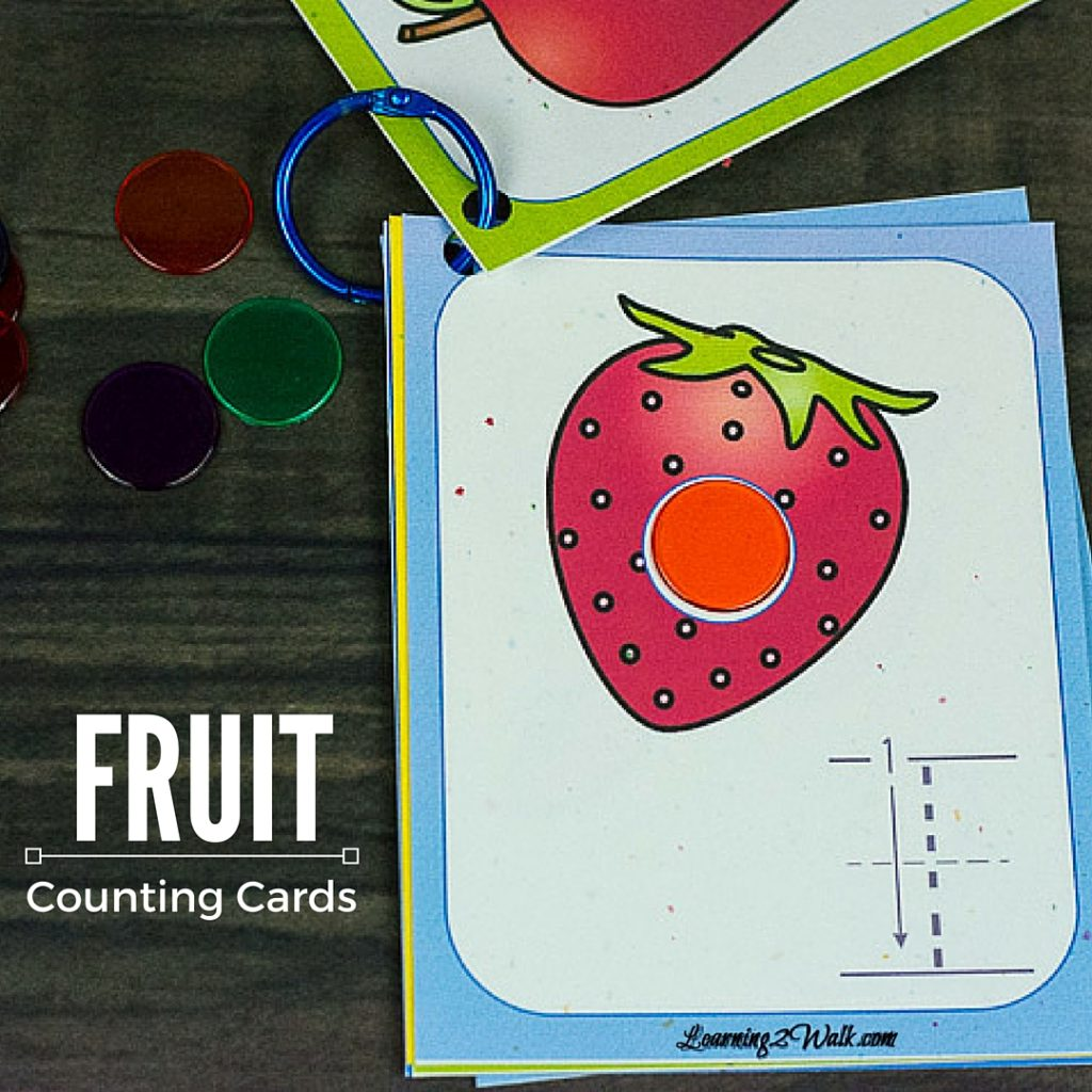 Free Colorful Fruit Counting Cards