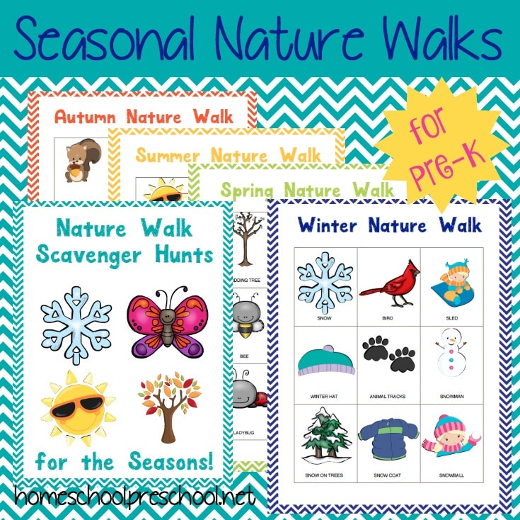FREE Preschool Nature Walk Printables