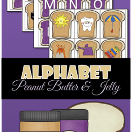 FREE Alphabet PB & J Themed Pack