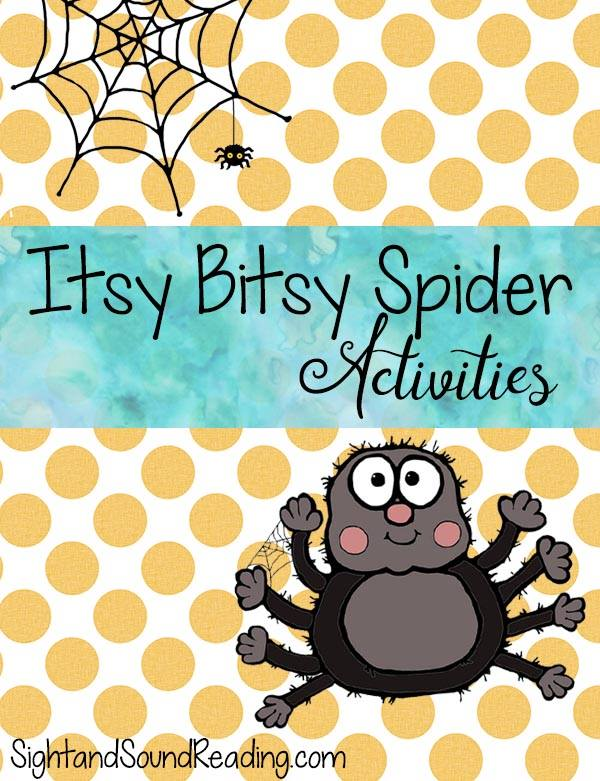 FREE Itsy Bitsy Spider Activities