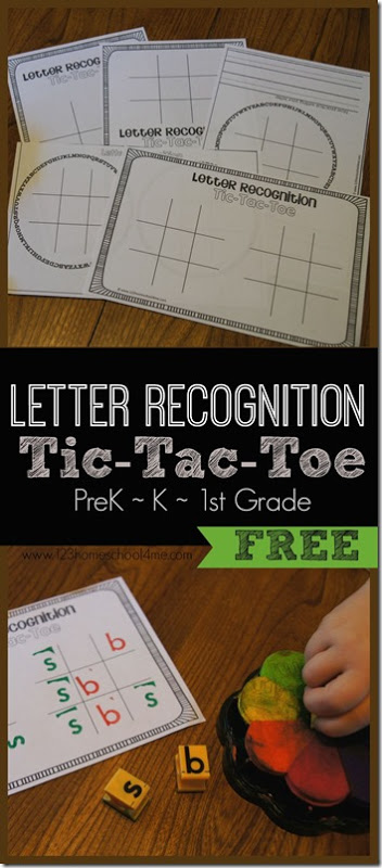 Free Letter Recognition Tic-Tac-Toe Game