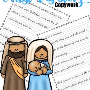 Free The Christmas Story Copywork