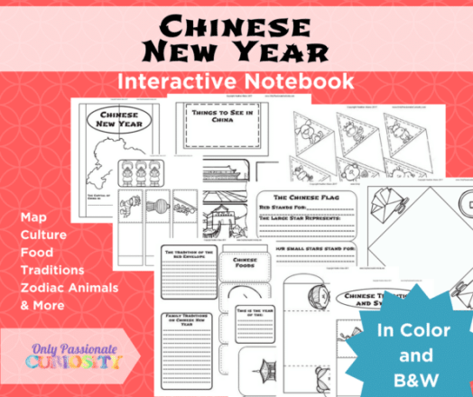 Free Chinese New Year Interactive Notebook - Limited Time!