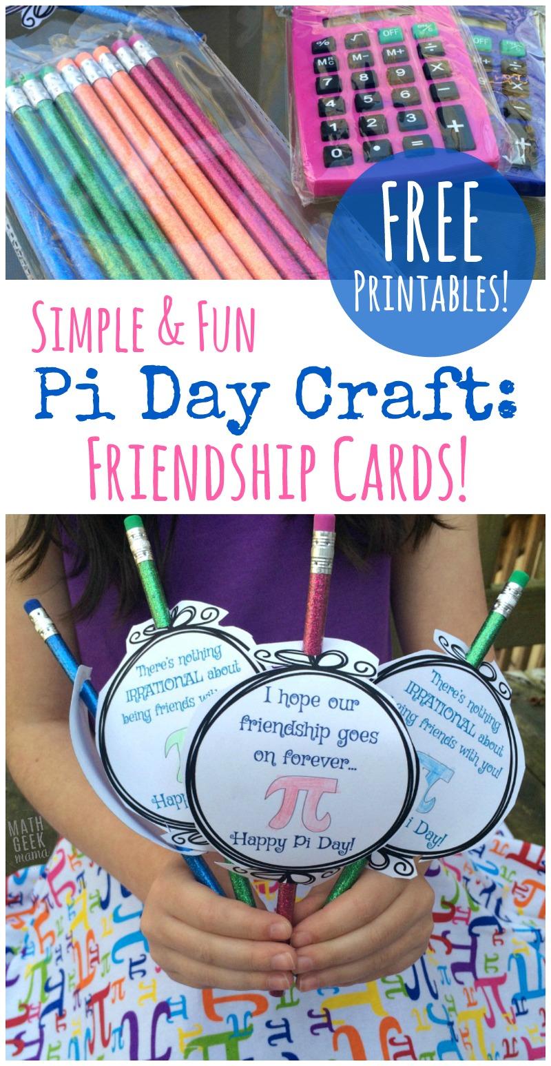 Cute Pi Day Printable Cards Freebie Free Homeschool Deals